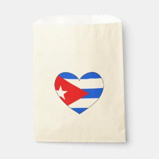 Bolsa De Papel Corazón de la bandera de Cuba