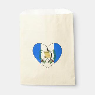 Bolsa De Papel Corazón de la bandera de Guatemala