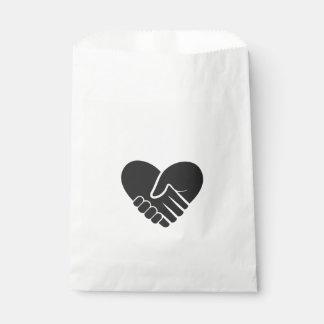 Bolsa De Papel Corazón negro conectado amor