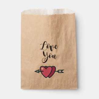 Bolsa de Papel corazones enamorados Love you