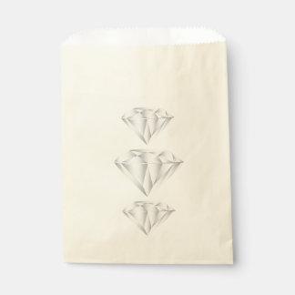 Bolsa De Papel Diamante blanco para mi amor