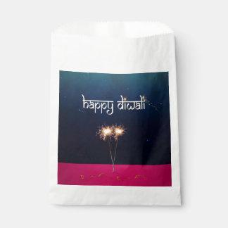 Bolsa De Papel Diwali feliz chispeante - bolso del favor
