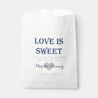 Bolsa De Papel El amor es marina de guerra dulce y bolsos grises