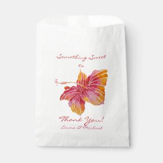 Bolsa De Papel El boda de la flor del hibisco de Hawaii le