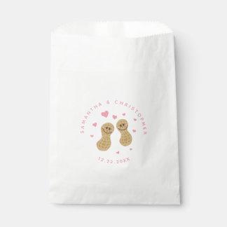 Bolsa De Papel El boda rosado caprichoso lindo Nuts divertido le