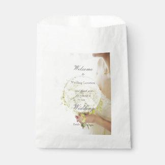 Bolsa De Papel El casarse hermoso del ramo de la flor de la novia