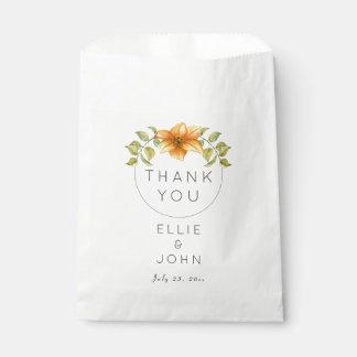 Bolsa De Papel El casarse le agradece favorecer la flor de la