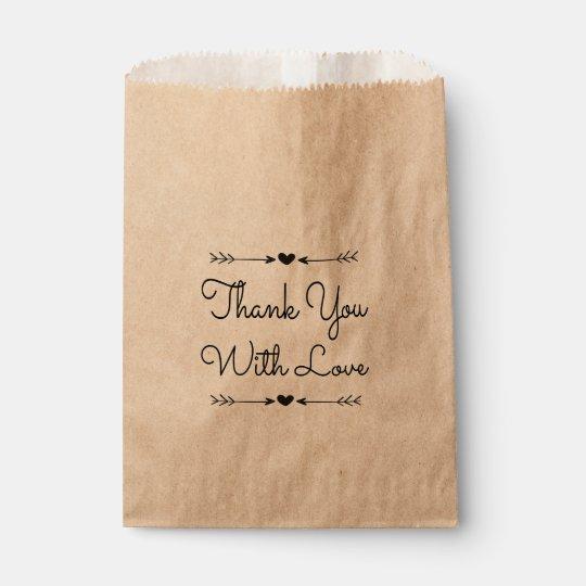 Bolsa De Papel El negro rústico le agradece amar el banquete de
