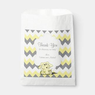 Bolsa De Papel Elefante lindo tonto amarillo divertido del bebé