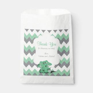 Bolsa De Papel Elefante lindo tonto verde divertido del bebé de