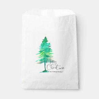 Bolsa De Papel Escritura de las Felices Navidad, pino de la