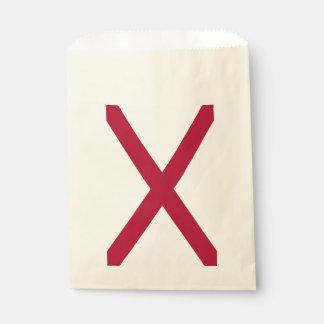 Bolsa De Papel Favorezca el bolso con la bandera de Alabama, los