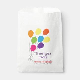Bolsa De Papel Fiesta de cumpleaños colorida de los chicas de los
