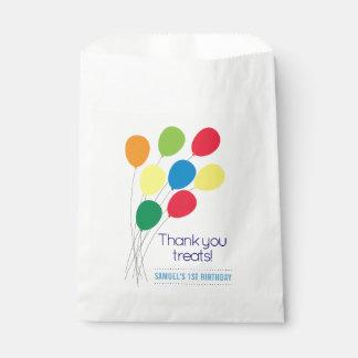 Bolsa De Papel Fiesta del cumpleaños del muchacho colorido de los