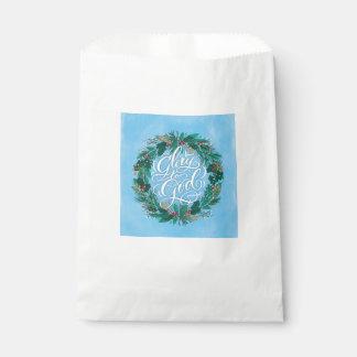 Bolsa De Papel Gloria al bolso del favor del navidad de la