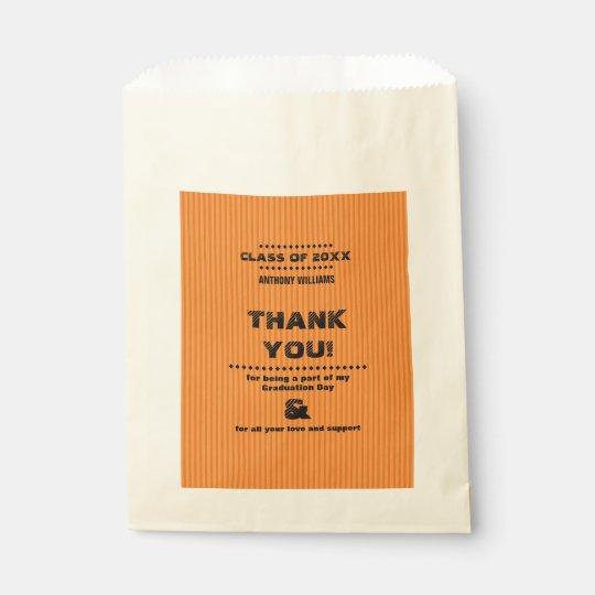 Bolsa De Papel Gracias los bolsos de encargo del favor de la