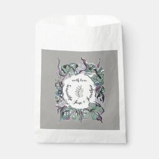 Bolsa De Papel Habitación floral del boda del bosque de la