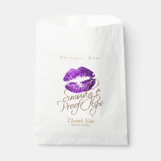 Bolsa De Papel Labios de la prueba de la mancha - púrpura