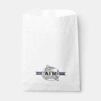Bolsa De Papel Logotipo del aniversario de AIW 25to