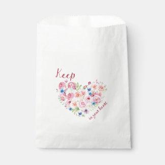 Bolsa De Papel Mantenga el amor su corazón