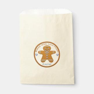 Bolsa De Papel Muchacho del pan de jengibre cocido con el bolso