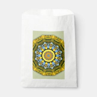 Bolsa De Papel Naturaleza del girasol, Flor-Mandala