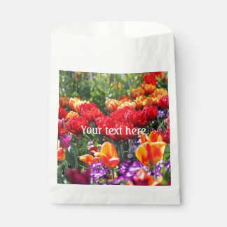 Bolsa De Papel Ondas florales del carmesí de Falln
