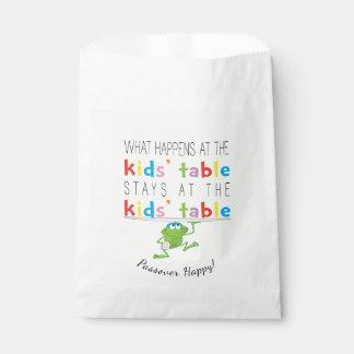 """Bolsa De Papel Passover """"el bolso del favor de Kids'Table"""" Goodie"""