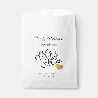 Bolsa De Papel Personalizado casando a Sr. señora de los besos de