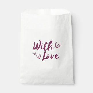 Bolsa De Papel Púrpura con los corazones del amor - boda, regalos