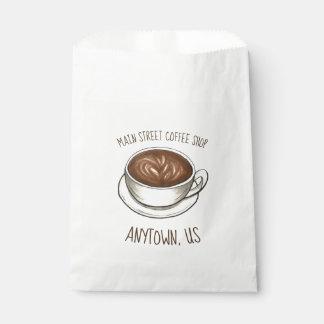 Bolsa De Papel Tienda del café de Latte Barista de la taza de