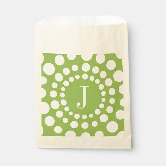 Bolsa De Papel Verde personalizado del monograma J