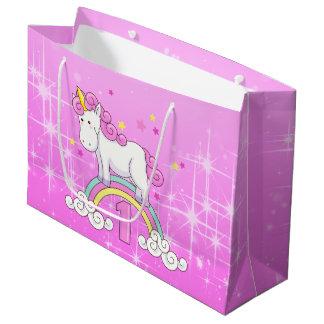 Bolsa De Regalo Grande 1r cumpleaños del unicornio
