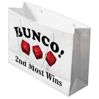 Bolsa De Regalo Grande 2do del regalo de los dados de Bunco la mayoría de