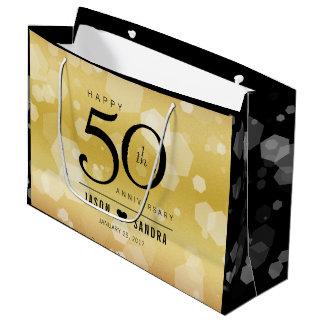 Bolsa De Regalo Grande 50.o aniversario de boda de oro elegante