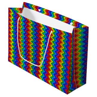 Bolsa De Regalo Grande Arco iris del zigzag