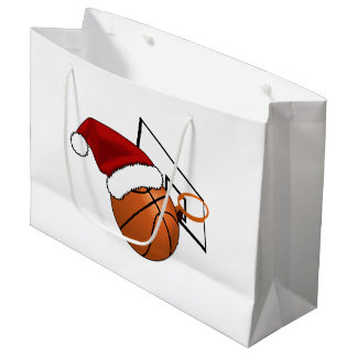 Bolsa De Regalo Grande Baloncesto y aro del navidad