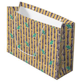 Bolsa De Regalo Grande Bambú grande - amarillo - bolso grande del regalo