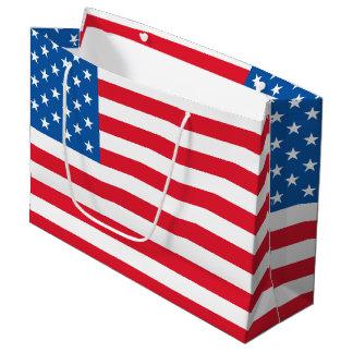 Bolsa De Regalo Grande Barras y estrellas de la bandera de los E.E.U.U.