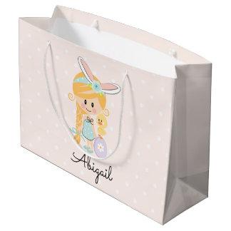 Bolsa De Regalo Grande Blonde personalizado de la venda del conejito del