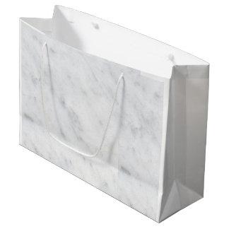 Bolsa De Regalo Grande bolso blanco de mármol del regalo del bolso del