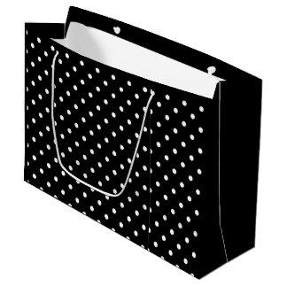 Bolsa De Regalo Grande Bolso blanco y negro del regalo de los lunares