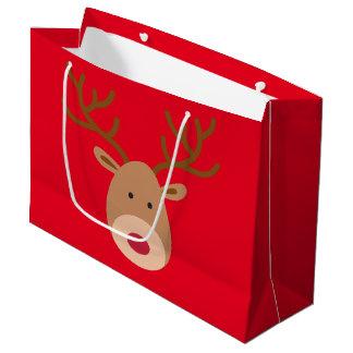 Bolsa De Regalo Grande Bolso brillante del regalo del reno del navidad