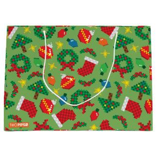 Bolsa De Regalo Grande bolso de 8 bits del navidad
