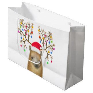 Bolsa De Regalo Grande Bolso del regalo de la alpaca del día de fiesta