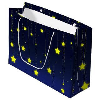 Bolsa De Regalo Grande Bolso del regalo de la noche estrellada