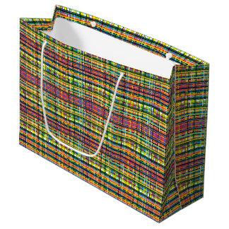 Bolsa De Regalo Grande bolso del regalo de la tela escocesa del arco iris