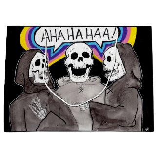 Bolsa De Regalo Grande Bolso del regalo de los huesos de la risa