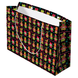 Bolsa De Regalo Grande Bolso del regalo del carácter del navidad