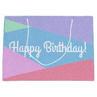 Bolsa De Regalo Grande Bolso en colores pastel del cumpleaños de la